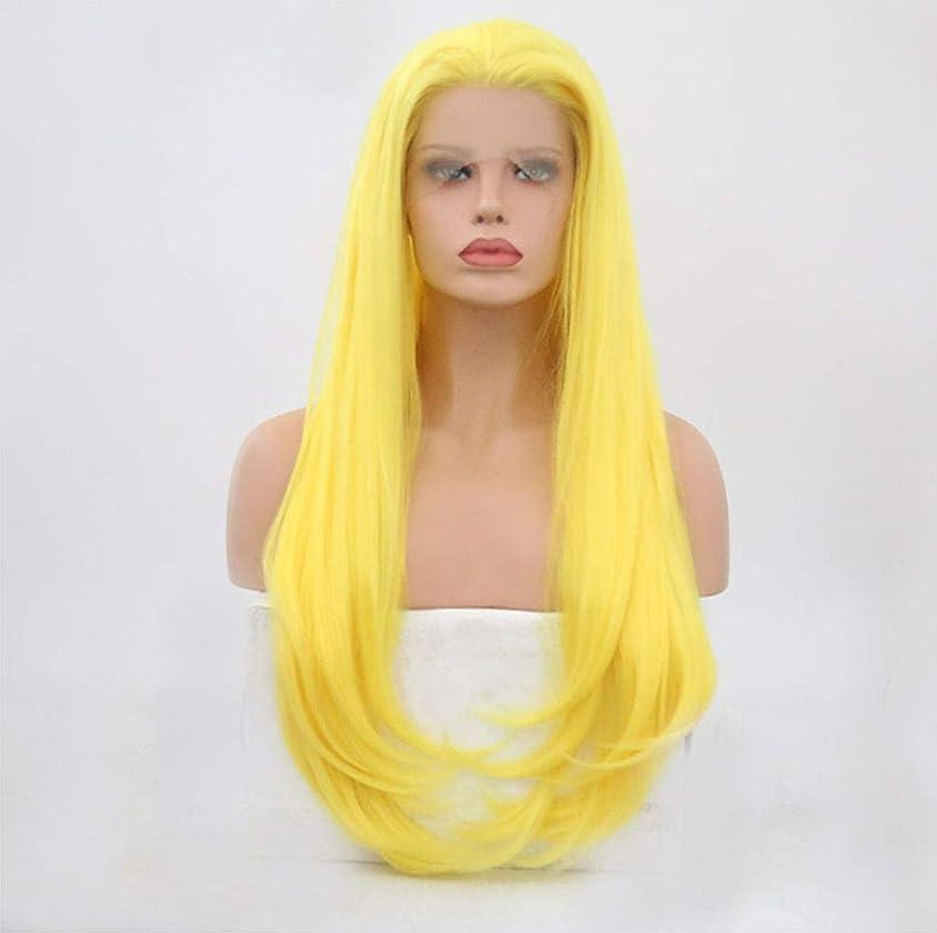 瞑想落ちた仮装女性かつらフロントレースロングウェーブカーリー高品質ファッションナチュラルコスプレパーティーウィッグ