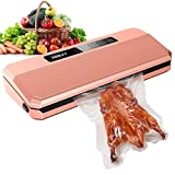 meat packing machine - PAZZT Vacuum Sealer Machine,Food Sealers Vacuum Packing Machine,Hidden Power Cord Design,with Starter Kit