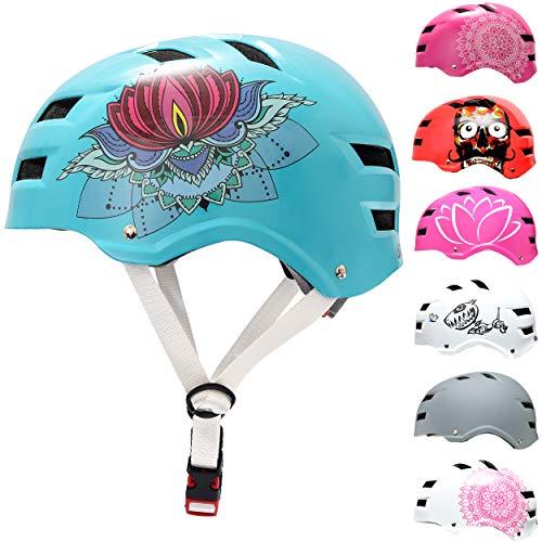 Skullcap® BMX & Skaterhelm - Fahrradhelm - für Jugendliche & Erwachsene von 14-39 Jahren, Lotus, L (58 – 61 cm)