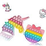 Juego de 2 juguetes antiestrés para niños y adultos, alivio de ansiedad para personas con autismo, TDAH