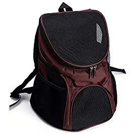 Balanka Small dog and cat carrier durable pet carrying handbag airline approved portable puppy travel carrier belt Car Seat Booster Puppy Cage