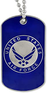 Military USAF Air Force Engravable Custom Personalized Dog Tag Gift