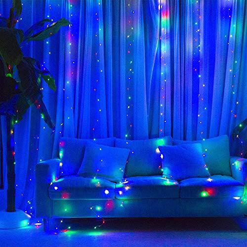 Coniwinli Christmas Fairy Lights,Flash Curtain Lights,USB...
