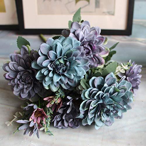 Flores Artificial Simulación Caléndula Boda Disparos Atrezzo Hogar Flores Falsas Decoración Muebles De Sala Decoración Flor De Seda Artificial Azul