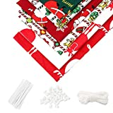 6Pcs Cotton Fabric Printed Christmas Fabric Bundles for Sewing Patchwork Quilting Fabric S...