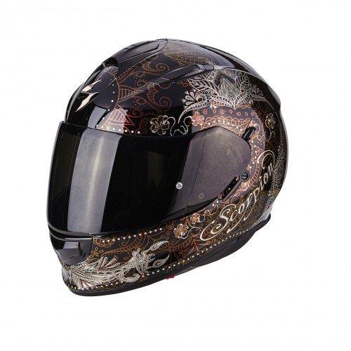 Scorpion Motorradhelm Exo 510 Air Azalea Cameleon, Größe XS 2541_26165 Noir/Marron/Rouge