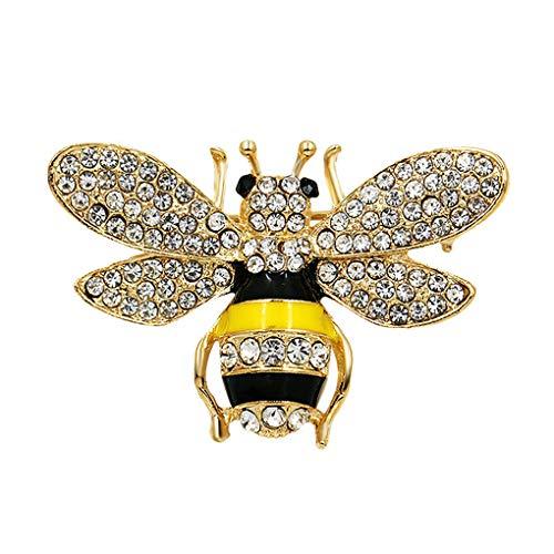 Kineca Cristal broches Mujeres Rhinestone de Abeja broches del Rhinestone Hembra del Insecto Clip Fular Vestido de Novia Ramo de la Broche de la Fiesta
