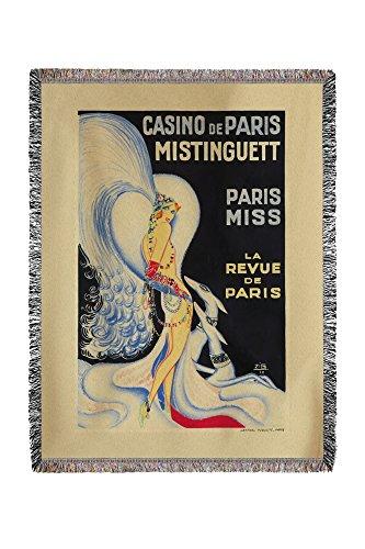 Casino de Paris – Mistinguett – Paris Miss vintage Poster (Artiste : Zig) France C. 1930 (60 x 80 tissé Fil chenille Couverture)