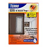 TERRO T3220 Refillable Spider & Insect Trap Attracts Pests with Hydro-tech Lure – Includes 2 Traps & 8 Glue Boards