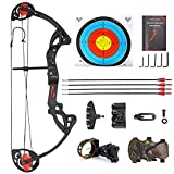 ZSHJG Junior Complete Compound Bow Arrow Package Set Youth Compound Bow and Arrow