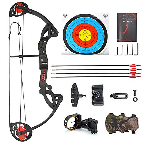 ZSHJG Junior Complete Compound Bow Arrow Package Set Youth Compound Bow and...