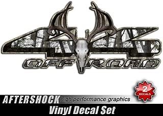 4x4 Deer Skull Truck Decal Snow Camo Archery Hunting Treestand Sticker