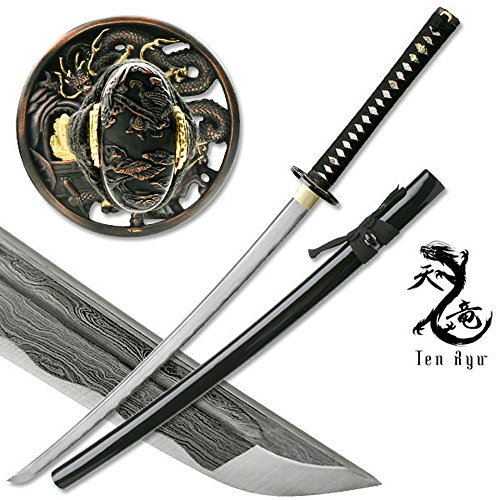 Masahiro Damascus Sword of The Serpent Hunting Knife