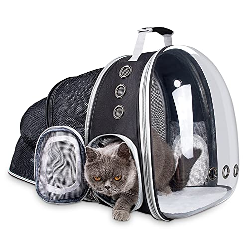 Siivton Expandable Cat Backpack, Space Capsule Transparent Pet Carrier for Small Dog Cats Kittens...