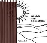 heimtexland ® Ösenschal Vorhang in creme uni blickdicht aber lichtdurchlässig HxB 245x140 cm - Dekoschal Microfaser mit wunderschön leichtem Fall - Gardine beige Typ117 - 3