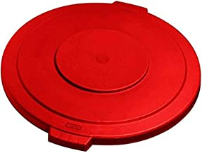 Carlisle (341011) - Plastic Round Lid for 10 gal Container-Bronco Lid-Red