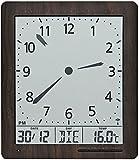 AMS 5893 - Reloj de pared digital con radio, indicador de hora, fecha, temperatura, despertador, radiocontrolado