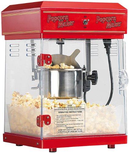 Rosenstein & Söhne - Popcornmaschine Profi - mit Edelstahl Topf - im 50er-Retro Stil