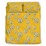 YOUYO Spark Juego de cama de crisano-tema cómodo clásico - funda de almohada de crisantemo San Valentín blanco 228x228cm