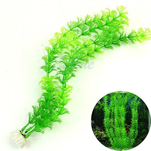 Runrain 33 cm Vert artificielle Plante en plastique Herbe Fish Tank Aquarium Ornement Décoration