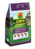 Compo Abono de césped Acción 4 en 1, para 200 m², Negro, 7.5 kg