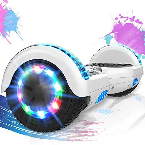 SOUTHERN WOLF Hoverboards de 6,5 Pulgadas con Luces LED de Rueda de Colores, Scooter eléctrico con Motor de 2 * 352 W, Scooter autoequilibrado con Bluetooth para Regalo para niños