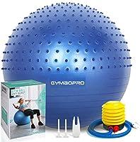 GYMBOPRO Palla da Ginnastica, Palla Fitness con Pompa Rapida, Antiscivolo Yoga Palla per Fitness Palestra Yoga Pilates