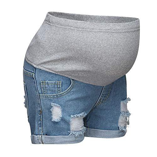 Damen Umstandsmode Schwangere Jeans Umstandsshorts Kurze Jeanshose Leggings Mutterschaft Shorts Skinny Umstandsjeans Destroyed Umstandshose Schwangerschafts Umstandsleggings
