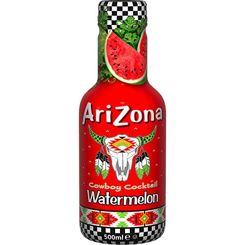 12 Flaschen Arizona Cowboy Cocktail Watermelon a 500ml inc. 3,00 Euro EINWEG Pfand Wassermelone