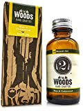 Mens Natural Beard Oil: The 2 Bits Man 'The Woods' Beard and Facial Hair Treatment - Anti Itch and Anti Dandruff Healthy Beard Grooming Oils with Cedarwood and Pine Scent - 1 ounce
