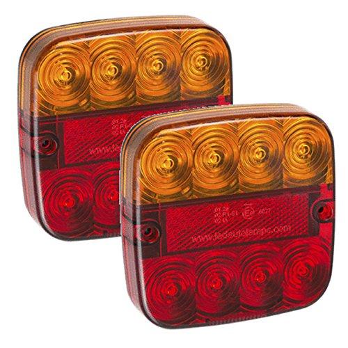 Paire de 12 V remorque LED arrière Noir 3 ans * * * * * * * * * * * * * * * * Stop/arrière/indicateur