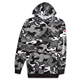 Champion Mens Big & Tall Long Sleeve Pullover Jersey Hoodie Black Camo XLT