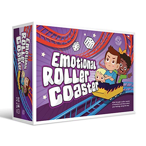 Emotional Rollercoaster   Anger Management Board Game for Kids & Families   Therapy Learning Resources   Anger Control Card Game   Emotion Board Games Games for Kids Ages 4-8 -12   Social Emotional