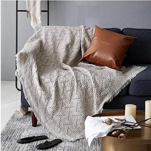 BASA Housse de mobilier de Jardin , Serviette de canapé Simple Couleur Unie Moderne , canapé Simple de Protection Contre la poussière
