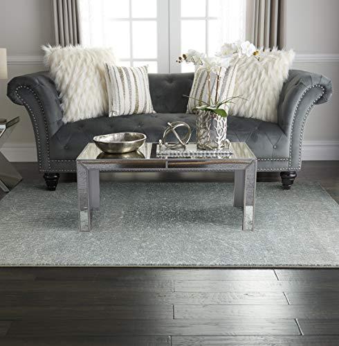 Inspire Me Home Décor Elegance Blue, Grey and White Contemporary Area Rug 5'3' X 7'3'