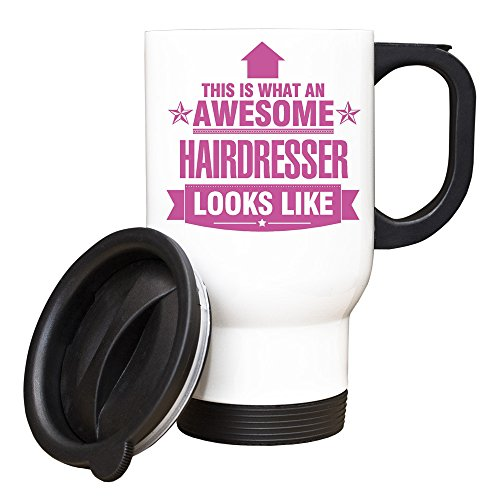 Duke Gifts Rose This is What an Awesome Coiffeur Looks Like Mug de Voyage Idée Cadeau – Travail