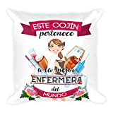 Kembilove Cojin Decorativos de la Mejor Enfermera del Mundo – Cojines Decorativos para...