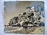Antigua Postal Fotográfica - Old Photography Postcard : Playa y Pueblo - BENIDORM Nº 572
