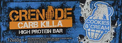 Grenade  Carb Killa High Protein e Low Carb Bar, 12 x 60 g - Biscotti e crema