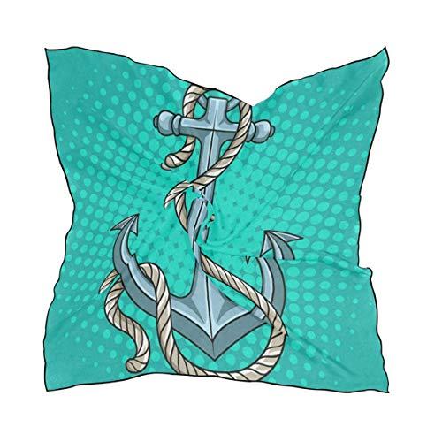 IMERIOi Schal Saltwater Beach Ladies Square Seidenschals Schal Wrap Girls für Frauen trend 4781