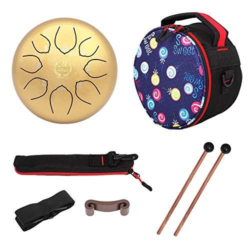 Steel Tongue Drum 8 Notes 6-Zoll-Pan Drum Percussion Steel Drum Instrument Mit Mallets, Mallet Bracket Und Travel Bag