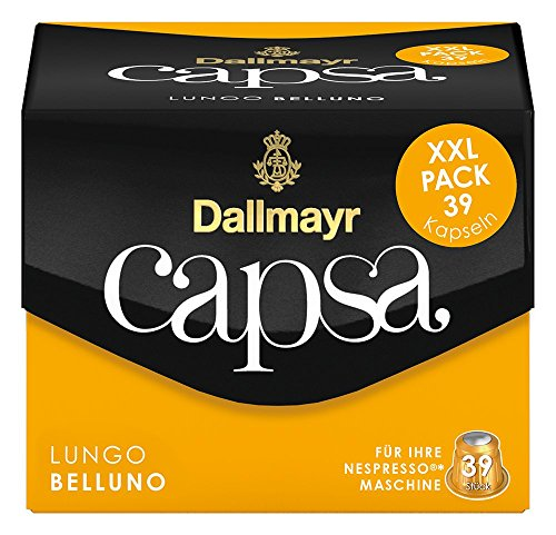 Dallmayr Capsa Lungo Belluno XXL, 39 Nespresso kompatible Kapseln, 1er Pack (1 x 218 g)
