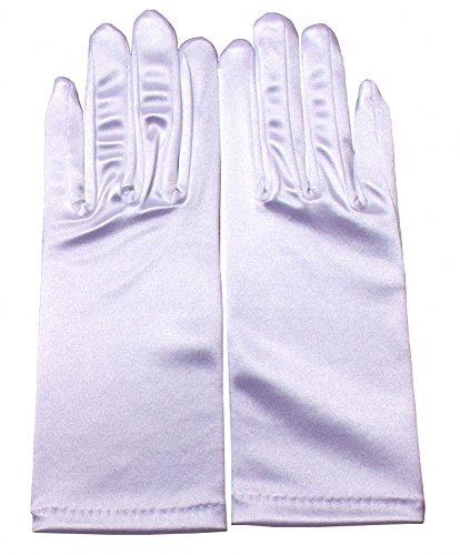 Miranda's Bridal Women's Wrist Length Formal Satin Gloves White