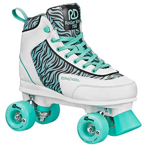 Roller Star 750 Womens Roller Skate (SEA Foam Zebra, 3)