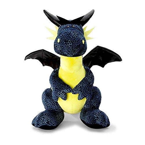NICI 40775.0 Dragons Eisdrache schwarz/blau sitzend ca. 30cm, 30 cm