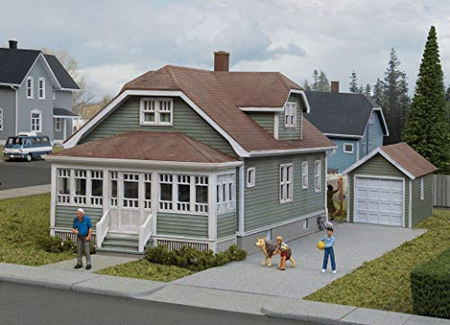 Walthers Cornerstone HO Scale Model Kit - Updated American Bungalow with Single-Car Garage