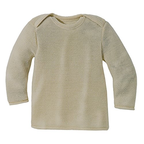 Disana 31301XX - Melange-Pullover Wolle natur (62/68)