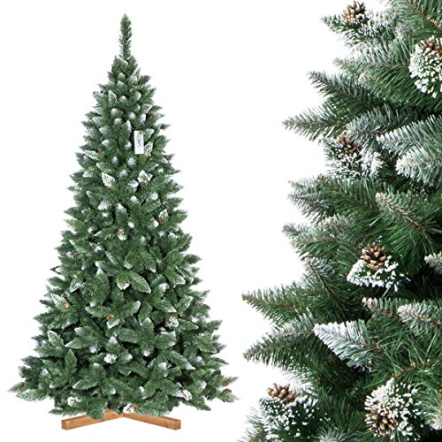 FairyTrees Artificial Árbol de Navidad Slim, Pino...