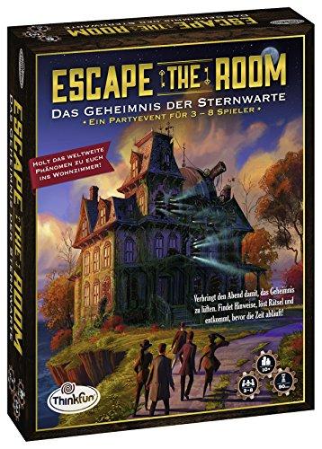 Preisvergleich Produktbild ThinkFun - 76313 - Escape the Room: Das Geheimnis der Sternwarte. Löst die Rätsel und enkommt der Sternwarte. Ein ideales Escape-Spiel für Einsteiger