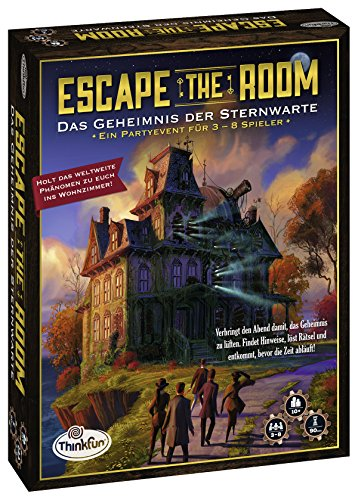 ThinkFun 76313 - Escape the Room - Das Geheimnis der Sternwarte
